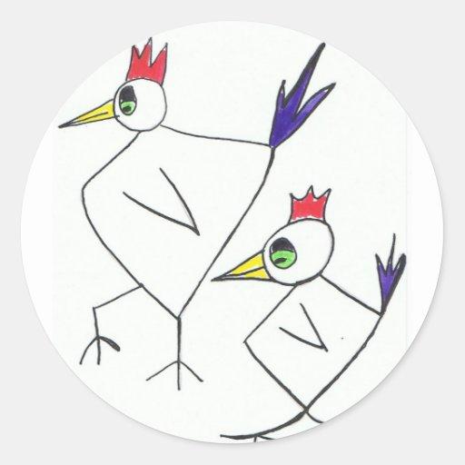 funky chooks sticker