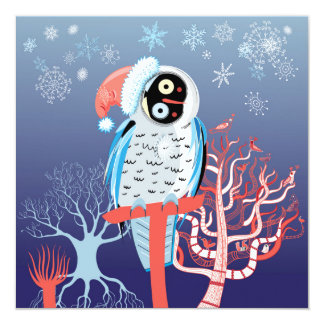 Funky Christmas Owl Card