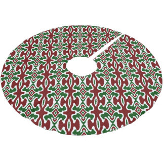 Funky Christmas Pattern 2 Brushed Polyester Tree Skirt
