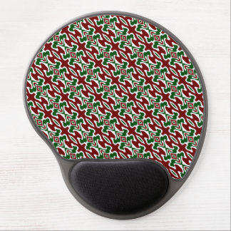 Funky Christmas Pattern 2 Gel Mouse Pad