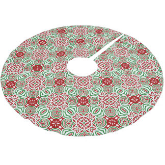 Funky Christmas Pattern Brushed Polyester Tree Skirt