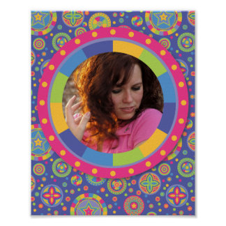 Funky Circle frame - Disco! on pattern Posters