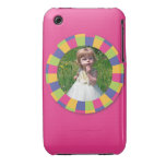 Funky Circle frame - Disco! on pink iPhone 3 Covers