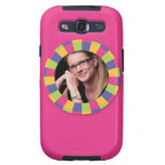 Funky Circle frame - Disco! on pink Samsung Galaxy SIII Cover