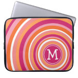 Funky Circle Pattern with Monogram Computer Sleeves