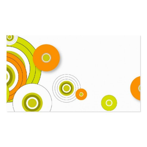 Funky circles business card design