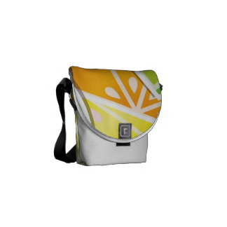 Funky citrus wedges courier bag