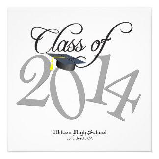 Funky Class of 2014 Graduation Custom Invite