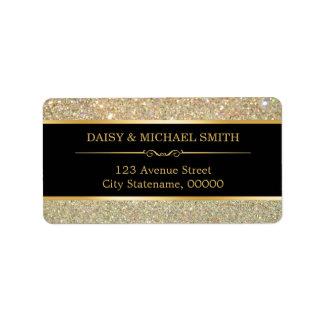 Funky Classy Gold Glitter Sparkles Label