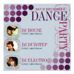 Funky Club DJ Dance Party w/ Photos Invitations