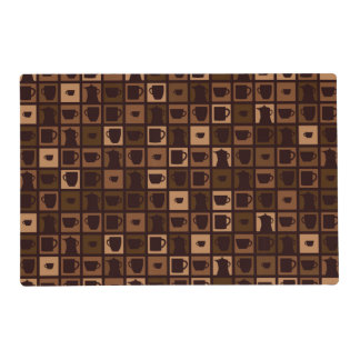 Funky coffee mosaic placemat