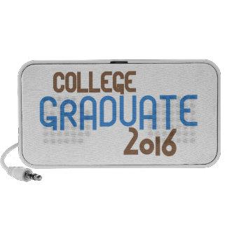Funky College Graduate 2016 (Blue) Mini Speaker