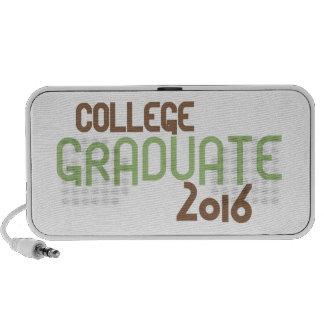 Funky College Graduate 2016 (Green) Mini Speaker