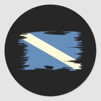 Funky Colored Dive Flag Classic Round Sticker