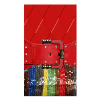 Funky Colored Sequins & Rhinestones Greeting Card Business Card