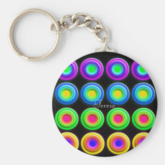 Funky Colorful 3D Circles Keychain