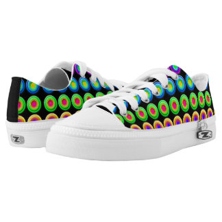 Funky Colorful 3D Circles Low-Top Sneakers