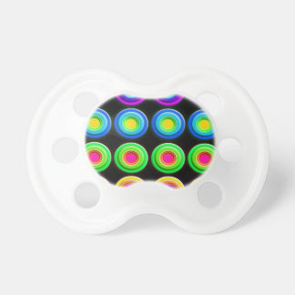 Funky Colorful 3D Circles Pacifier