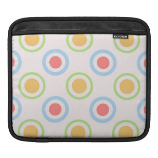 Funky Colorful Circles Pattern Sleeves For iPads