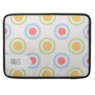 Funky Colorful Circles Pattern MacBook Pro Sleeve