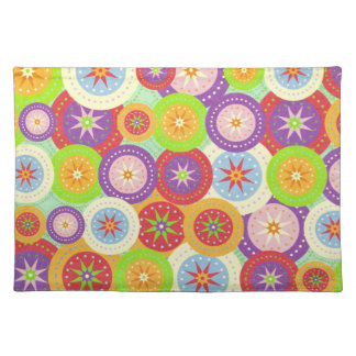 Funky Colorful Circles Placemat