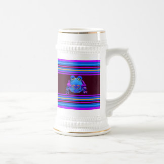 Funky Colorful Frog Blue Purple Funny Gifts Beer Stein