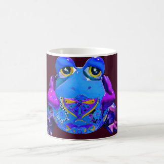 Funky Colorful Frog Blue Purple Funny Gifts Coffee Mug