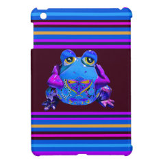 Funky Colorful Frog Blue Purple Funny Gifts Case For The iPad Mini
