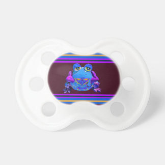 Funky Colorful Frog Blue Purple Funny Gifts Pacifiers