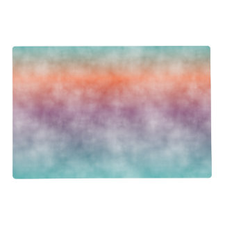 Funky Colorful Ombre Batik Marble Stripes Pattern Placemat