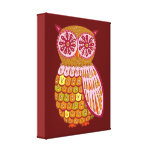 Funky Colorful Owl Gallery Wrapped Canvas