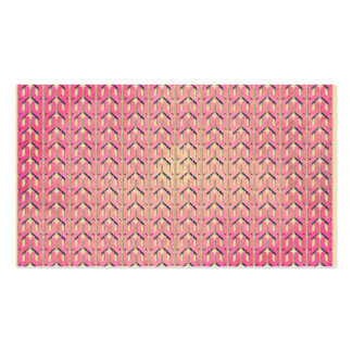 Funky Colorful Pink  Beige Geometric Pattern Business Cards