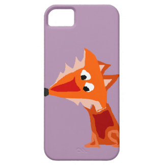 Funky Colorful Red Fox Art Design iPhone SE/5/5s Case