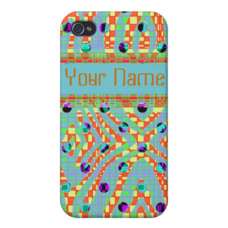 Funky, colorful, retro Iphone4/4s case iPhone 4 Cover