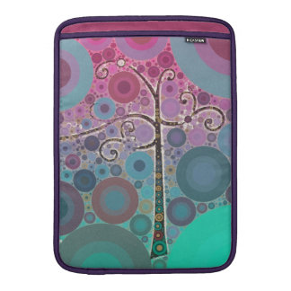 Funky Colorful Scroll Tree Circles Bubbles Pop Art Sleeves For MacBook Air