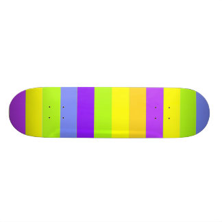 Funky colorful stripes skateboard deck