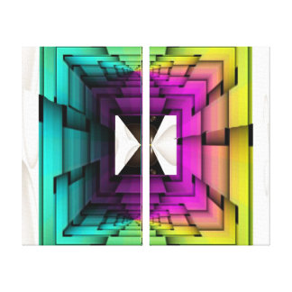 Funky Colors Canvas Print