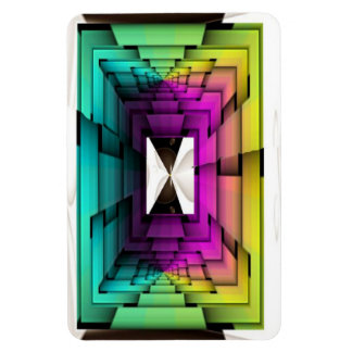 Funky Colors Rectangular Photo Magnet