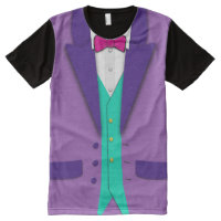 Funky Colors Tuxedo Bowtie and Vest All-Over-Print Shirt