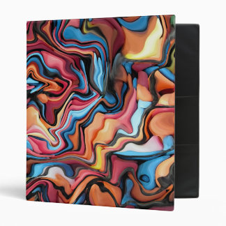 Funky Colourful 3 Ring Binder