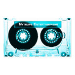 Funky Cool Aqua Mixtape Double-Sided Standard Business Cards (Pack Of 100)