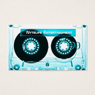 Funky Cool Aqua Mixtape Business Card