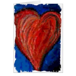 Funky Cool Artsy Heart - love card