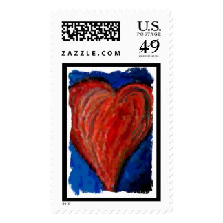 Funky Cool Artsy Heart - Valentines Day stamp