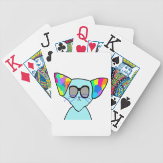 funky cool cat bicycle playing cards