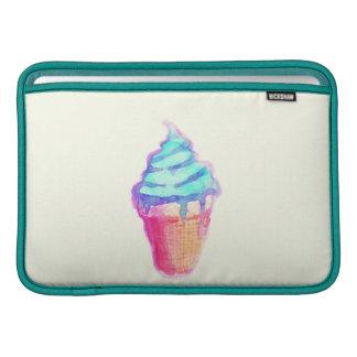 Funky Cool Drippy Ice Cream Cone in Watercolors MacBook Air Sleeve