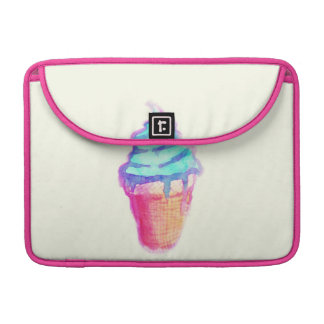 Funky Cool Drippy Ice Cream Cone in Watercolors Sleeves For MacBook Pro