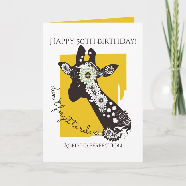 Funky Cool Funny Giraffe Birthday Personalized