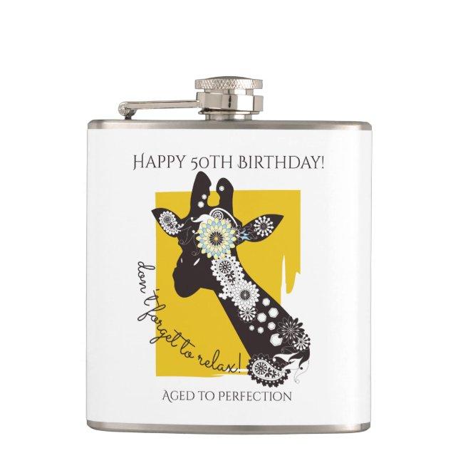 Funky Cool Funny Giraffe Birthday Personalized