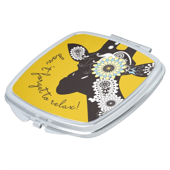 Funky Cool Funny Giraffe Yellow Personalized